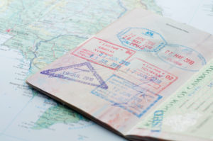 Travel abroad visa stamps