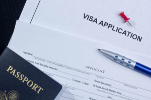 Travel abroad visa application